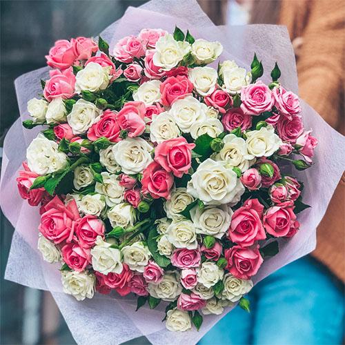 19 кустовых роз